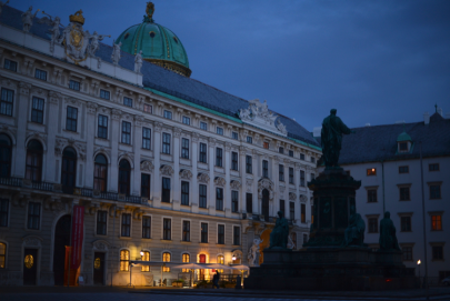 Hofburg's at sunset