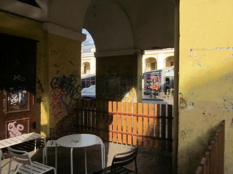 An unusual coffee place located just 50 meters from the infamous Nevski Avenue
