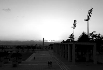 Montjuic Stadium Sunset
